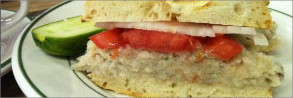 Barney Greengrass Herring Sandwich