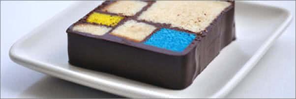 Blue Bottle Coffee Bar at SFMOMA Mondrian Cake
