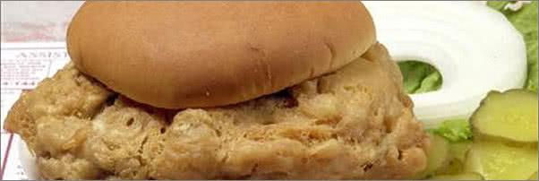 Hilltop Inn Jumbo Pig Brain Sandwich