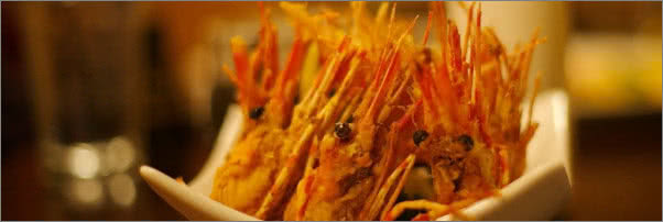 Joss Cafe Sushi Bar Fried Shrimp Heads