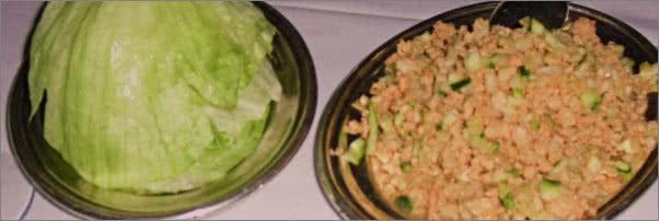 Mr Chow Diced Squab Lettuce Cups