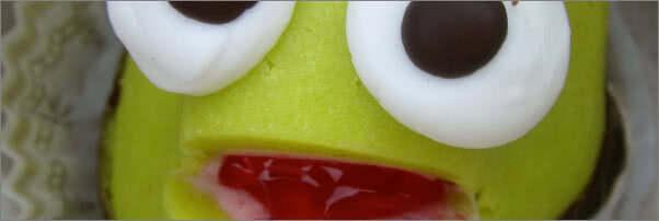 Swedish Bakery Green Frog Marzipan Cakes