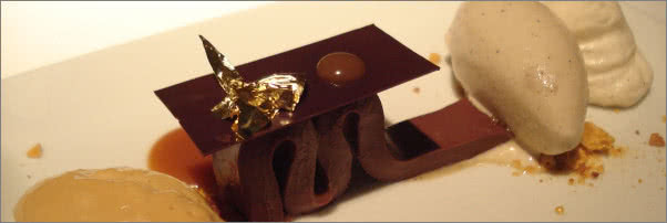 Tru Restaurant Chocolate Bar Dessert